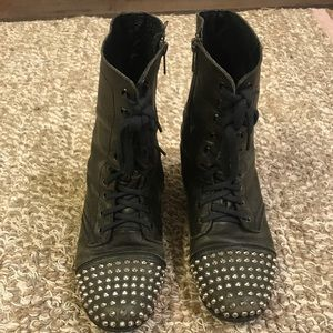 Steve Madden Studded Combat Boots